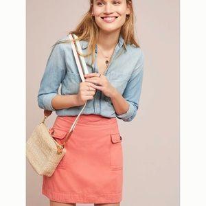 LIKE NEW Anthropologie Utility Mini Skirt Size 0